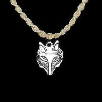 Wolf Hemp Spiral Necklace on 20 Inch Necklace