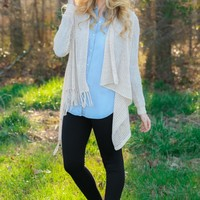 One Last Time Cardigan-Light Taupe