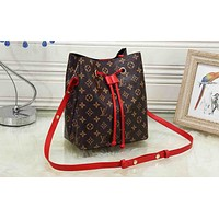 LV fashion hot selling printed color matching lady casual shoulder bucket bag #1