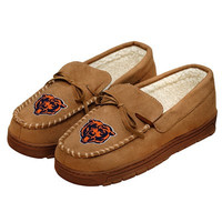 Chicago Bears Official NFL Mens Moccasin Slippers