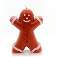 Christmas GINGERBREAD CANDLE Wax Holiday Boy Sweet Treat Ta225