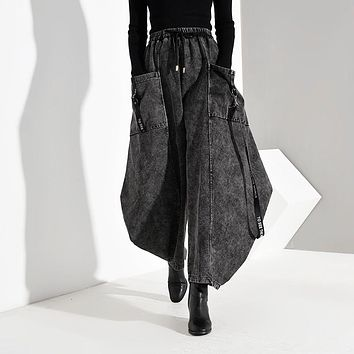 Keina Denim Wide Leg Pants