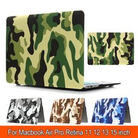 Laptop Cases Water stickers Camouflage Matte Surface Hard Case Cover For macbook air 11 pro reitna 12 air 13 pro retina 15
