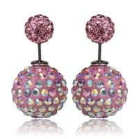 Tribal Earrings - Swarovski Crystal Pink