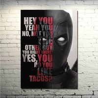 Superhero 2017 Deadpool Marvel Hot New Art Movie Poster 13x18 inches Picture for Wall Decor (NEW)