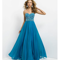 (PRE-ORDER) Blush 2014 Prom Dresses - Ocean Chiffon Strapless Prom Gown