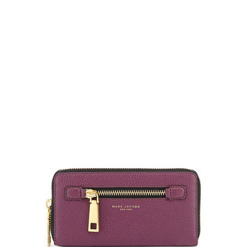 Marc Jacobs Gotham Leather Continental Wallet, Iris