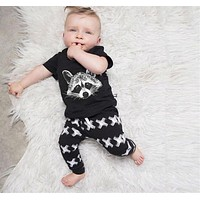Baby Boys Clothing Sets Baby Girls Boys Fox Cotton Tops T-shirt+Pants Leggings Outfits Set Costume Boys Clothes