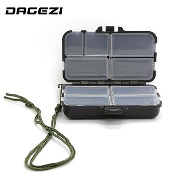 DAGEZI big Fishing Tackle Box for fishing Popper 9 Compartments can be adjustable Fly Fishing Box Fishing Accessories