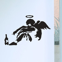 Banksy Fallen Angel Wall Decals