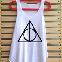Deathly hallows shirt tank top tunic vest tee hipster Harry potter clothing swag
