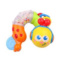 Baby Teether Toys Ratlle Toy Musical Worm Age for 3 Months and up 22*8CM