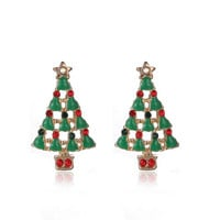 New Arrival Cute Christmas Earrings  Santa Snowman Christmas Tree Bell Earring Holiday Gifts for Womens Ladys