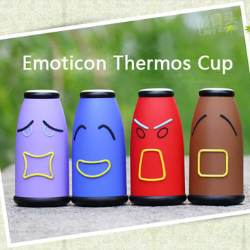 Emoticon Stainless Steel Vacuum Thermos Cup