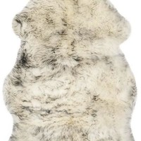 Safavieh Sheep Skin SHS121E Ivory / Smoke Grey Rug