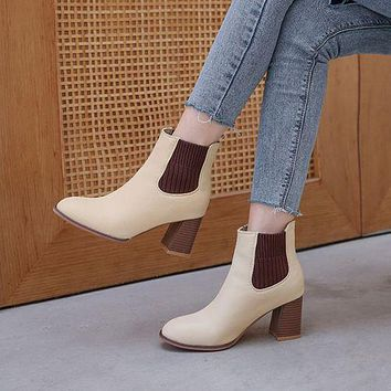 Women's High Heeled Ankle Chelsea Boots