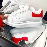 Alexander McQueen Fashion Women Men Leather Sport Running Sneaker Shoes