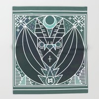 Bat from Transylvania Throw Blanket by Chobopop
