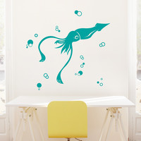 Silly Squid Wall Decal