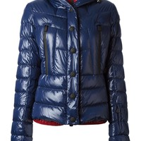 Moncler Grenoble red underlayered coat