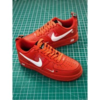 Nike Air Force 1 07 Lv8 Utility Pack Low Af1 Red Fashion Shoes