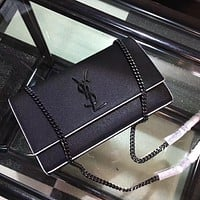 Tagre YSL Women Shopping Fashion Leather Chain Satchel Shoulder Bag Crossbody