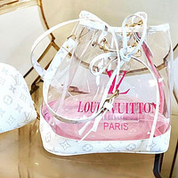 Louis Vuitton Two-piece LV Transparent Jelly Bucket Bag Letters Print Bucket Bag