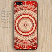 iPhone 5s 6 case red gallery mandala colorful phone case iphone case,ipod case,samsung galaxy case available plastic rubber case waterproof B579