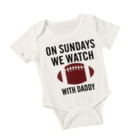 Baby Boy Football One-piece Bodysuit