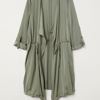 Satin Parka - Khaki green - Ladies | H&M US