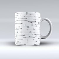 The Vector Black Arrows ink-Fuzed Ceramic Coffee Mug