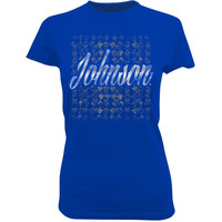 Checkered Flag Jimmie Johnson Ladies Silver Streak T-Shirt - Royal Blue