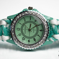 Womens Mint Green Paracord Watch