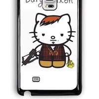 Samsung Galaxy Note Edge Case - Hard (PC) Cover with Daryl Dixon Hello Kitty Plastic Case Design