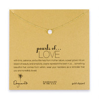 pearls of love white pearl necklace, gold dipped