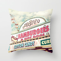 Carnival Throw Pillow by Sylvia Cook Photography