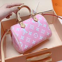 LV Louis Vuitton Popular Women Shopping Bag Leather Pink Handbag Tote Shoulder Bag Crossbody Satchel