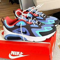 Nike Air Max 200 Popular Men Women Casual Air Cushioned Running Sport Shoes Sneakers Blue