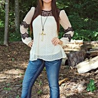 Love Without End Lace Top