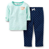 2-Piece 3/4-Sleeve Top & French Terry Pant Set