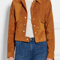 Frame Denim - Le Cropped Trench suede jacket