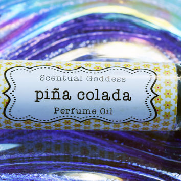 "PINA COLADA Perfume Oil - Sweet Juicy Pineapple & Coconuts - Great Afternoon ""Pick Me Up"" Scent"