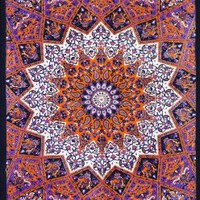 Hippie Star Tapestries , Psychedelic Tapestry , Sun and Moon Tapestry, Bohemian Mandala Tapestries, Throw Bedspread