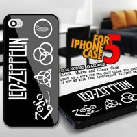 Led Zeppelin Band Logo for iPhone 5 cover case