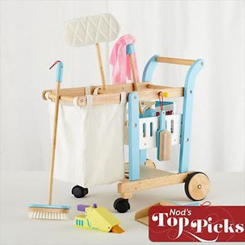 The Land of Nod: Imaginary Toys: Kid's Pretend Cleaning Cart in New Toys and Gifts