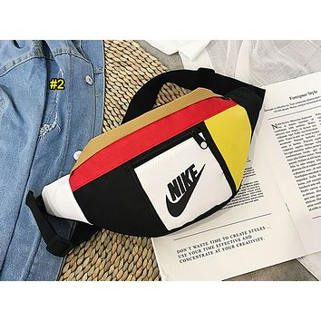 NIKE popular women's casual cross-breast bag fashion matching color Fanny pack #2
