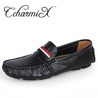 Men Casual Loafers Shoes Men Striped Style Fashion Shoes Soft Moccasins Men Leisure Shoes
