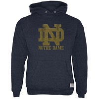 Notre Dame Fighting Irish - Distressed ND Logo Tri-Blend Adult Hoodie