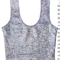 Shattered Glass Crop Top Tank