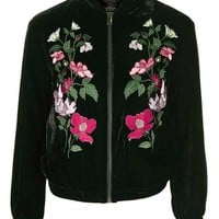 TALL Velvet Embroidered Bomber - New In This Week - New In
